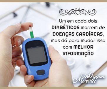Um em cada dois diabéticos morrem de doenças cardíacas