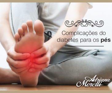 Complicações do diabetes para os pés